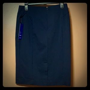 NWT Navy Blue Apt.9 dress work skirt sz6